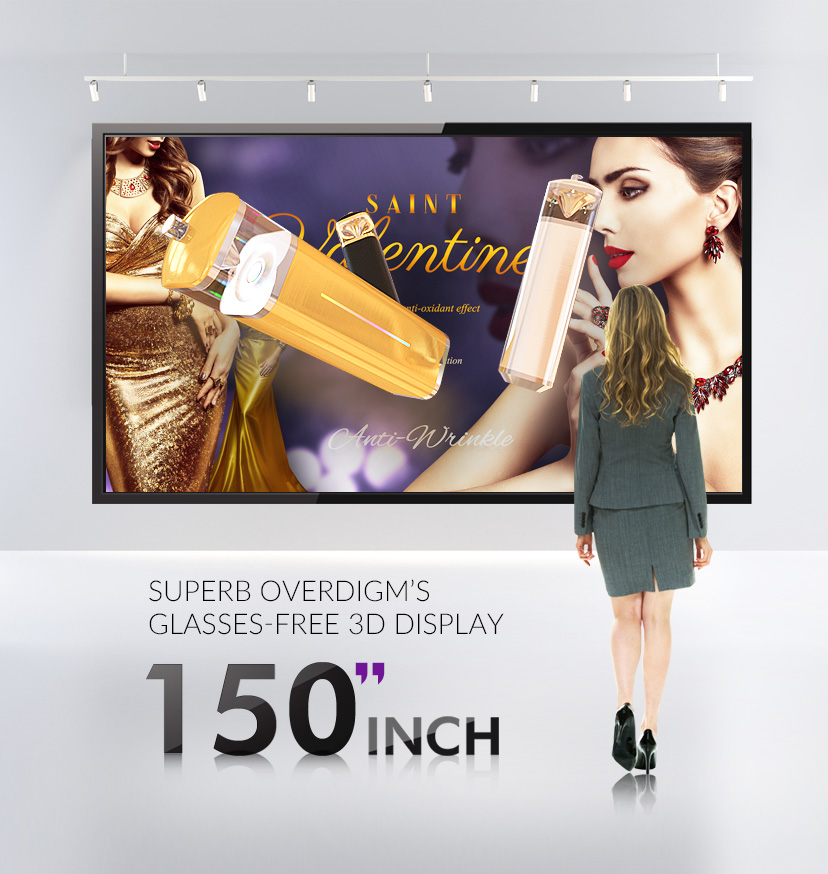 "150"" Glasses-free 3D Display In Overdigm HQ!"